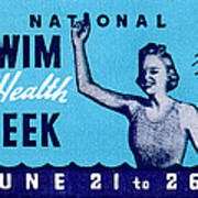 1935 Swim For Health Poster Art Print