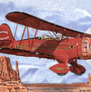 Monument Valley Bi-plane Art Print