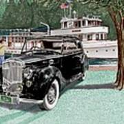 Bentley Waving To Malibu Art Print