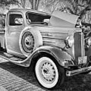1936 Chevrolet Pick Up Truck Painted Bw   Art Print
