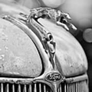 1936 Ford Cabriolet Hood Ornament - Emblem Art Print