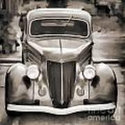 1936 Ford Roadster Classic Car Or Automobile Painting In Sepia  3120.01 Art Print