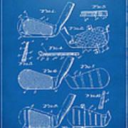 1936 Golf Club Patent Blueprint Art Print