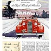 1936 - Lasalle Convertible Automobile Advertisement - Color Art Print
