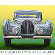 1937 Bugatti 57 S C Atalante Art Print