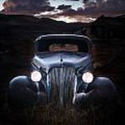 1937 Chevy At Dusk Art Print