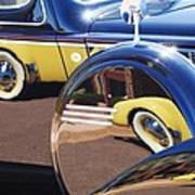 1937 Cord 812 Phaeton Reflected Into Packard Art Print