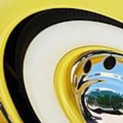 1937 Cord 812 Phaeton Wheel Rim Reflecting Cadillac Art Print