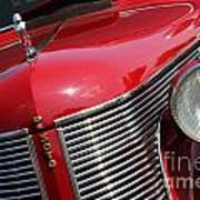 1937 Desoto Front Grill And Head Light 7285 Art Print