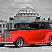 1937 Ford Convertible Sedan Art Print