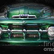 1937 Ford Pick Up Truck Front End Art Print
