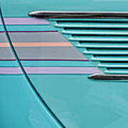 1937 Ford Sedan Slantback Door Detail Art Print