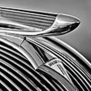 1937 Hudson Terraplane Sedan Hood Ornament 3 Art Print