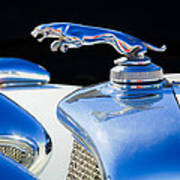 1937 Jaguar Prototype Hood Ornament -386c55 Art Print