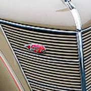 1937 Lincoln-zephyr Coupe Sedan Grille Emblem - Hood Ornament Art Print