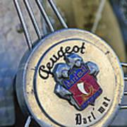 1937 Peugeot 402 Darl'mat Legere Special Sport Roadster Recreation Steering Wheel Emblem Art Print