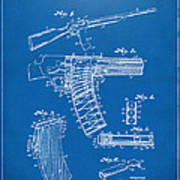 1937 Police Remington Model 8 Magazine Patent Artwork - Blueprin Art Print