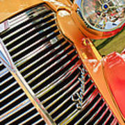 1938 Chevrolet Coupe Grille Emblems Art Print