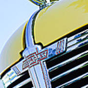 1938 Chevrolet Coupe Hood Ornament -0216c Art Print
