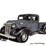 1938 Chevy Pickup Art Print