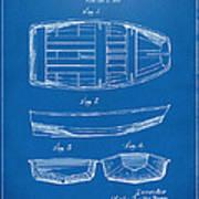 1938 Rowboat Patent Artwork - Blueprint Art Print