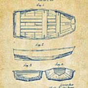 1938 Rowboat Patent Artwork - Vintage Art Print by Nikki Marie Smith