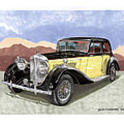 1939 Bentley Mark Four Sport Sedan Art Print