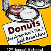 1940 Donut Poster Art Print