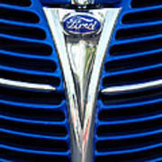 1939 Ford Woody Wagon Grille Emblem Art Print
