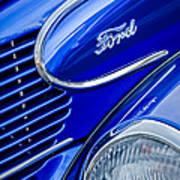 1939 Ford Woody Wagon Side Emblem Art Print