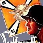 1939 German Luftwaffe Recruiting Poster - Color Art Print