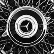 1939 Mercedes-benz 540k Special Roadster Wheel Rim Emblem Art Print