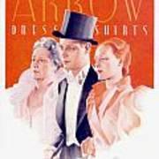 1940 - Arrow Shirts Hans Flato Advertisement - 1940 Art Print