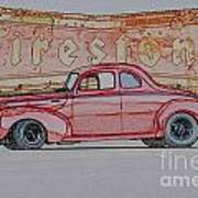 1940 Ford Coupe Illustration Art Print