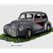 1940 Ford Custom Street Rod Art Print