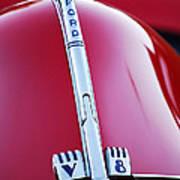 1940 Ford V8 Hood Ornament -323c Art Print