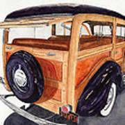 1940 Ford Woody Art Print