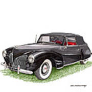 Lincoln Zephyr Cabriolet Art Print