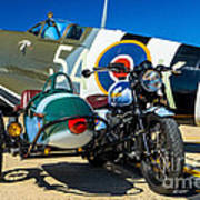 1940 Triumph And Supermarine Mk959 Spitfire  Art Print