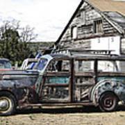 1940s Era Packard Wood-panel Wagon Art Print