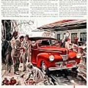 1941 - Ford Super Deluxe Automobile Advertisement - Color Art Print