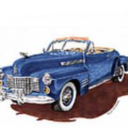 1941 Cadillac Series 62 Convertible Art Print
