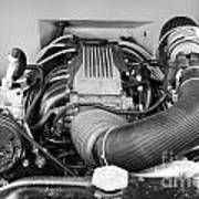 1941 Ford Pickup Engine Motor  Classic Automobile In Sepia 3082.01 Art Print