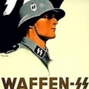 1941 - German Waffen Ss Recruitment Poster - Nazi - Color Art Print