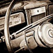 1941 Packard Steering Wheel Emblem Art Print