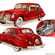 1941 V 12  Lincoln Continental Art Print