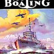 1942 - Motor Boating Magazine Cover - October - Color Art Print