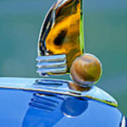1942 Lincoln Continental Cabriolet Hood Ornament Art Print
