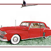 1942 Lincoln Continental Coupe Art Print