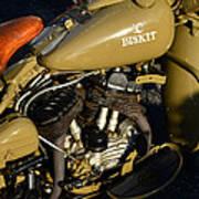1942 Wla Harley Davidson Art Print